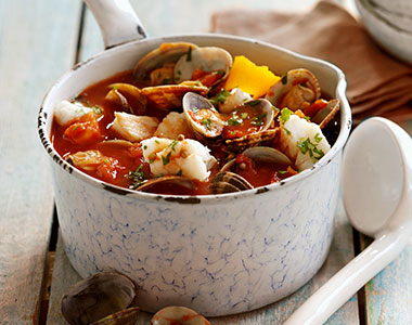 Fish and mussel stew